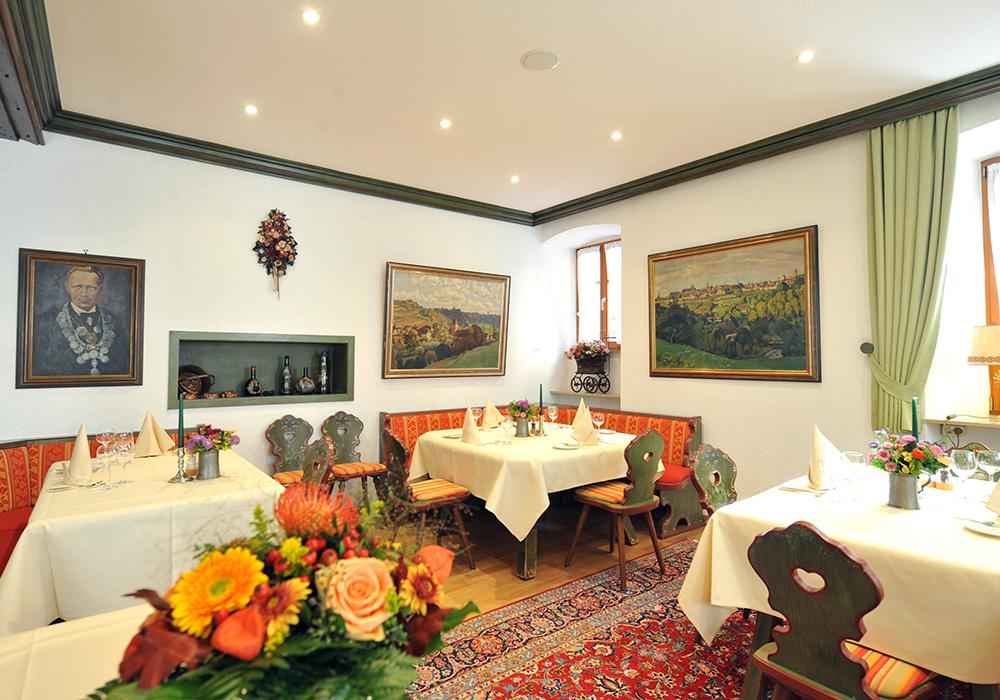 Die Tiroler Stube im Hotel Tilman Rimenschneider in Rothenburg ob der Tauber